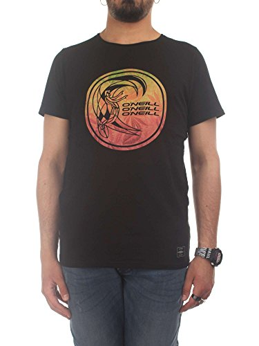 O'Neill LM Circle Surfer Camiseta, Hombre, Negro (Black out 9010), Medium (Tamaño del Fabricante:M)