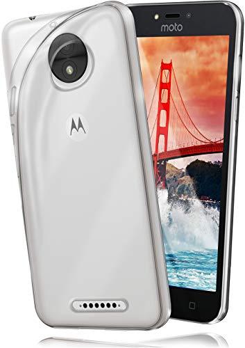 moex Aero Hülle kompatibel mit Motorola Moto C Plus - Hülle aus Silikon, komplett transparent, Klarsicht Handy Schutzhülle Ultra dünn, Handyhülle durchsichtig einfarbig, Klar