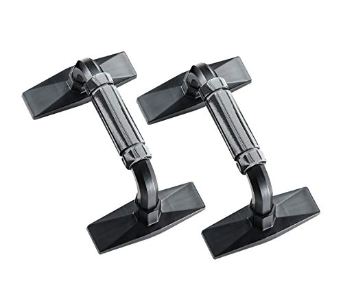 Adeser Push Up Bars Strength Training - Workout Stands with Ergonomic Push-up Bracket Board for Home Fitness Training, Push Up Stands Handle for Floor Workouts -Bottom Non-Slip Support (Black)