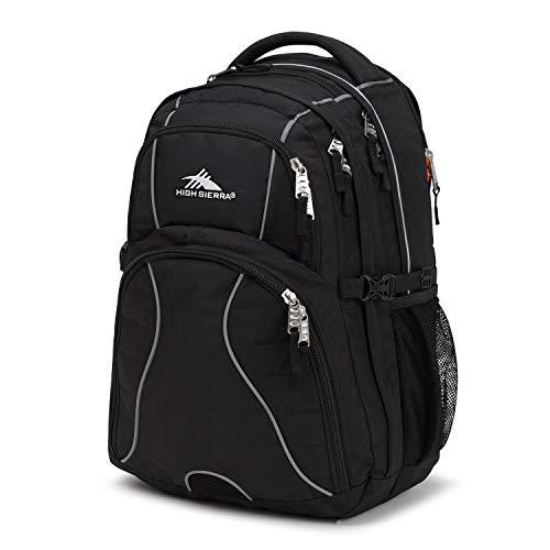 High Sierra Swerve Laptop Backpack, Black, One Size
