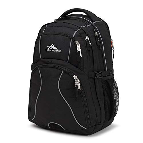 High Sierra Swerve Laptop Backpack, Black, 19 x 13 x...