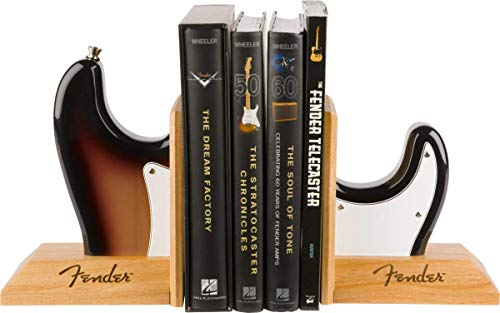 Fender Stratocaster Electric Guitar Body Bookends - Sunburst