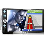 XOMAX XM-2VN768 Autoradio mit Mirrorlink, GPS Navigation, Navi Software, Bluetooth Freisprecheinrichtung, 7 Zoll / 18cm Touchscreen Bildschirm, FM Tuner, SD, USB, 2 DIN