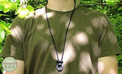 EDC Survival-Halskette mit Ferrostab, Feuerstahl und Striker, verstellbar, perfektes Survival-Accessoire