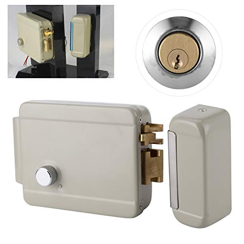 Electric Strike Lock, Quick to Install Iron Spray Powder Material Electric Door Lock for Door Access Control