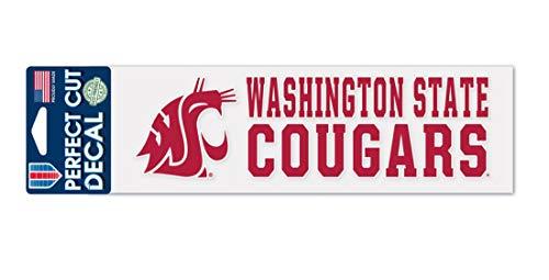 WinCraft Washington State University WSU Cougars - Juego de adhesivos de vinilo para exteriores (7,6 x 25,4 cm)