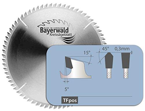 Preisvergleich Produktbild Bayerwald - HM Kreissägeblatt - Ø 250 mm x 3, 2 mm x 30 mm / Trapezflachzahn positiv (80 Zähne) / Nebenlöcher: Kombinebenlöcher + 2 / 7 / 42 / Alukreissägeblatt für NE-Metall & Kunststoff