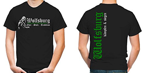 Wolfsburg Ehre & Stolz T-Shirt | Fussball | Ultras | FB (L)