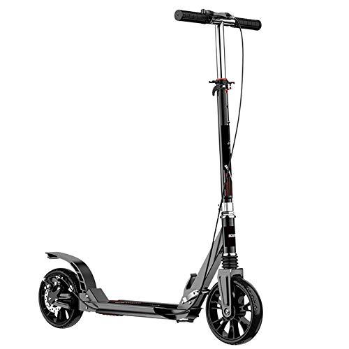 LIYANJJ Kick Scooters Walking Car Scooter de 2 Ruedas con Frenos Dobles Delanteros y Traseros, Ruedas inflables, Estructura de Acero, Tabla de pie Ancha, para viajeros