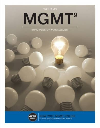 Williams, C: MGMT (with MGMT Online, 1 term (6 months) Prin (New, Engaging Titles from 4ltr Press)