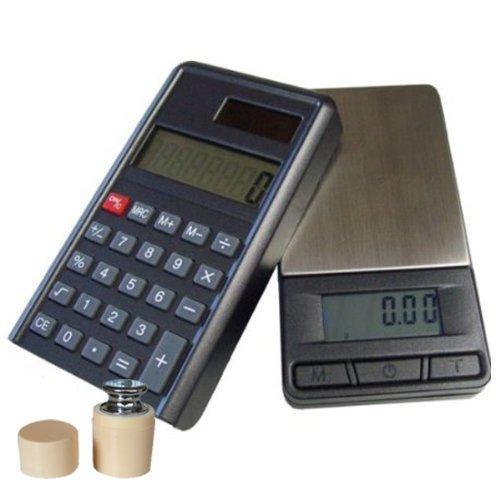 G&G PC+G 200g/0,01g + Prüfgewicht Taschenwaage & Taschenrechner (2 in 1) Feinwaage Digitalwaage Goldwaage Münzwaage Scale (200g x 0.01g)
