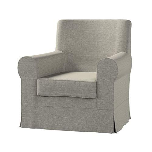 Dekoria Ektorp Jennylund Sesselbezug Sofahusse passend für IKEA Modell Ektorp grau-beige