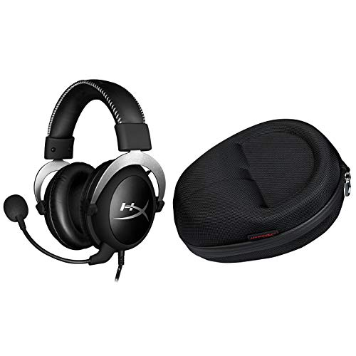 HyperX Cloud Pro Gaming Headset – Silver and Official Cloud Carrying Case