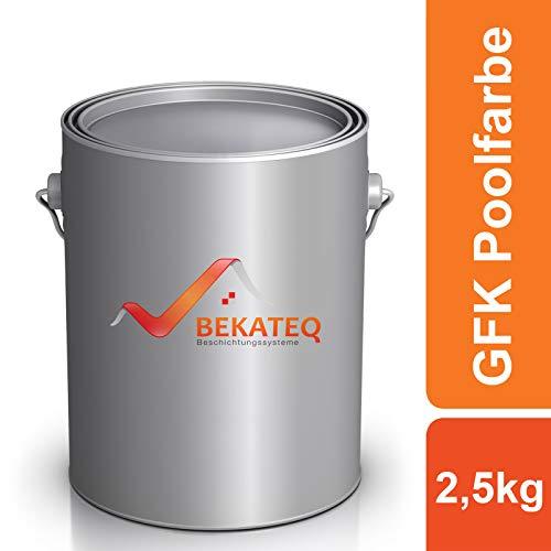 BEKATEQ 2K Poolfarbe LS-405 für Becken aus glasfaserverstärkten Kunststoff - RAL5012 Lichtblau glänzend - 2,5KG