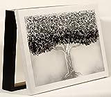 Cuadroexpres - Tapa para Cuadro Eléctrico 37x22x4 cm Moderna, Árbol de la Vida en Plata, con Puerta Abatible y Tornillos para Colocar