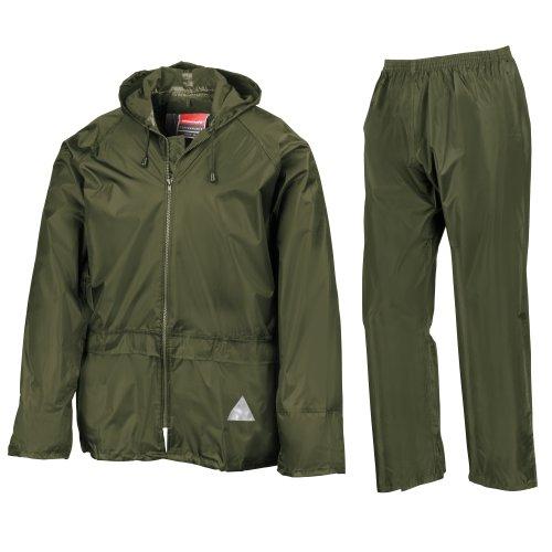 Result - Veste et pantalon de pluie - Homme (XL) (Olive)
