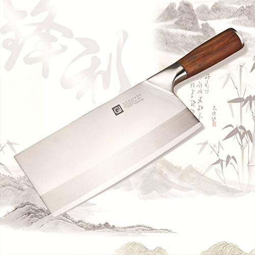 Cleaver Knife,Meat Cleaver SHUOJI Popular Chef Knives Stainless Steel Slicing Knife Meat Chicken Vegetable Best Chinese Cleaver Cooking Cutlery 4Cr13mov BY GHJK (Color : Type 1)