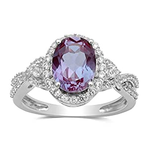 Jewelili-Sterling-Silver-9x7mm-Oval-Alexandrite-and-Round-Created-White-Sapphire-Ring