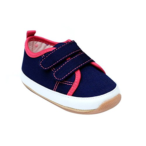 Kuner Baby Boys and Girls Cotton Rubber Sloe Outdoor Sneaker First Walkers Shoes (12.5cm(6-12months), Blue-2)