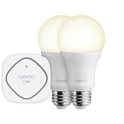 Belkin Wemo Wifi LED Lighting Starter Set, White, 6.7 x 3.4 x 7.6 Inches