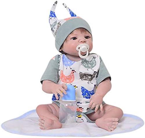 22 Realistische Reborn Babypuppe, Weißhes Silikon Realistisch und lebensecht Aussehende Neugeborene Puppe Beste Geburtstagsgeschenk für Alter 3