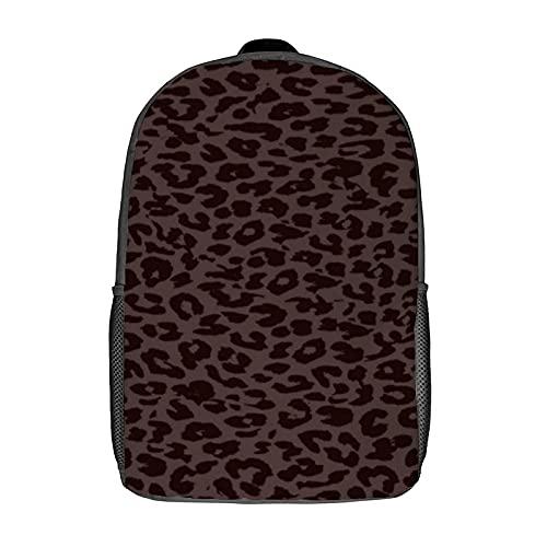 Zaini, borsa scuola computer zaino spalla zaino per donna/ragazzo/uomo/viaggi/affari 43,2 cm (leopardo stampa pelle marrone scuro)