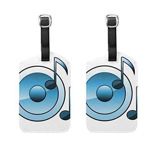 Montoj Blaue CD-Etiketten, für Koffer, 2 Stück