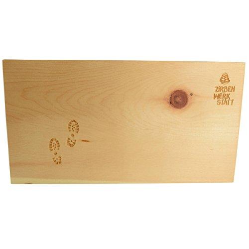 4betterdays Brotzeitbrett/Vesperbrett/Schneidebrett aus Zirbenholz - Maße: 35 x 20 x 1.8 cm - Handgemacht in Österreich