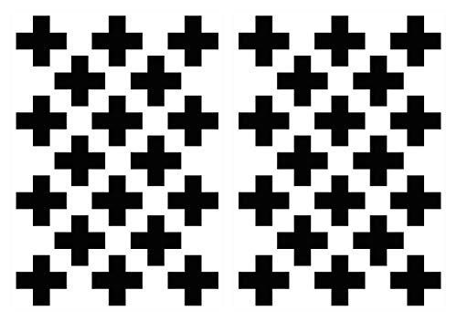 dekodino® Wandtattoo Kreuze in schwarz 36 Stück Set Dekoration