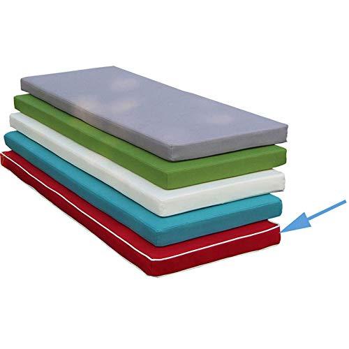 POETRY Cojín de Banco Rectangular para Patio, elástico, Grueso, para sillas de Comedor, Impermeable, Antideslizante, cojín para sillas de Patio, Muebles T 150x30x5cm (59x12x2inch)