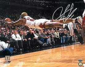 Autographed Dennis Rodman Picture - 16X20 Horizontal Dive Hologram - Tristar Productions Certified - Autographed NBA Photos