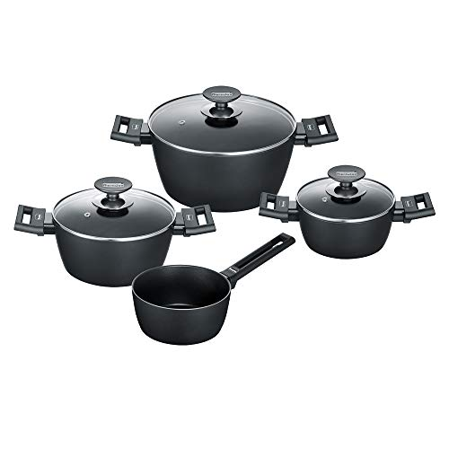 Berndes Alu Induction Kochtopfset 4-teilig Batería de cocina (7 piezas, aluminio de...