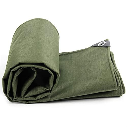 Armee Grün Plane Sonnenschirm Shelter Heavy Duty Leinwand Baldachin Lkw Abdeckung UV Bildschirm Regen Plane 100% Wasserdicht (Size : 3x4m)