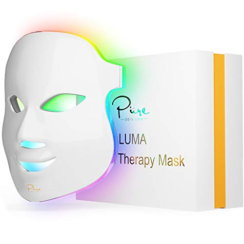 Luma LED Skin Therapy Mask - Home Skin Rejuvenation & Anti-Aging Light Therapy - 7 Color LED - Facial Skin Care - Skin Tightening - Wrinkles and Fine Lines - Boost Collagen - Inflammation Fighter