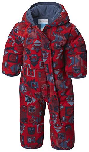 Columbia Mono para bebé, Snuggly Bunny Bunting, Rojo (Red Spark Critters, Dark Mtn), Talla 6/12 Meses