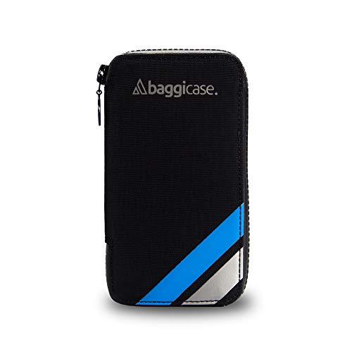 Baggicase M Azul (15x7,9cm). La Funda Impermeable para el móvil y Las pertenencias del Ciclista. Disponible en Tres Tallas S (14x7,6cm), M (15x7,9cm) y XL (16,3x8,5cm) y 8 Colores.