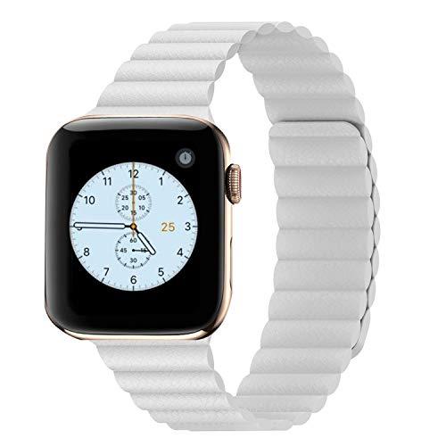 Synchro Apple Watch Armband Series SE 6 5 4 3 2 1 oder Nike Edition, Größe 44mm 42mm 40mm 38mm iWatch Armband für Damen oder Herren, Magnetverschluss. Smartwatch Zubehör, besser als Leder