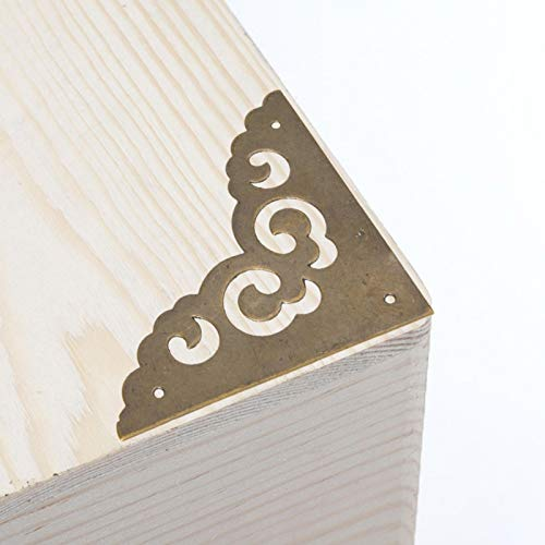 SALUTUYA Corner Protector Cloud Shaped für Schreibtisch Schmuckkasten Box Geschenke(Bronze)