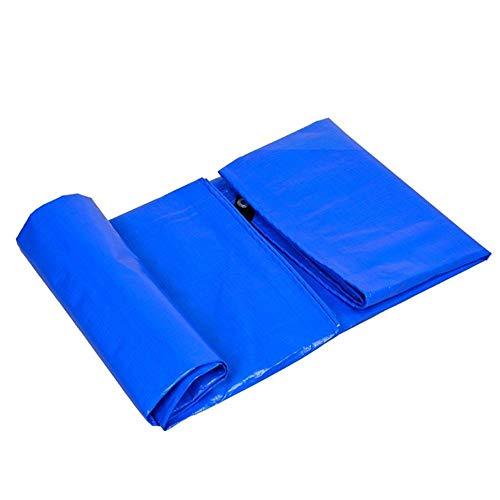 Abdeckplane Plane wasserdichte Heavy Duty Polyethylen Plane, Mehrzweck Mit Metallösen, Bodenzelt Anhänger Abdeckung Schutzplane FENGMING (Color : Blue, Size : 4x8M)