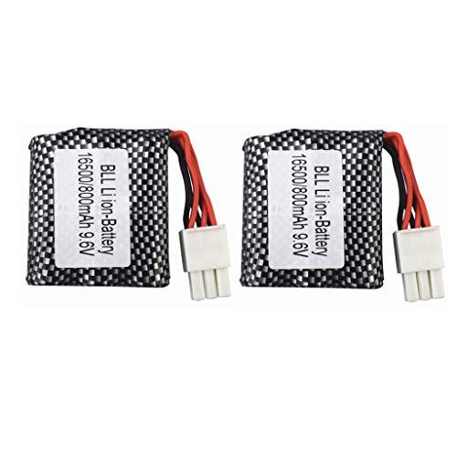 SZMYLED Batería de litio para coche RC, 9,6 V, 800 mAh, para S911, 912, 9115, 9116, 9120, 9120, 9,6 V, 16500, 15C, 2 cps