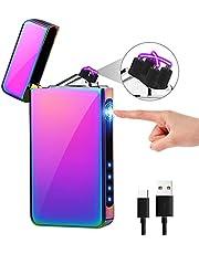 KIMILAR Lichtboogaansteker, elektrische aansteker USB, dual oplaadbaar, aanraaksensor, vlamloze elektronische aansteker voor kaarsen keuken grill BBQ