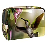Estuche de Maquillaje Estuche de Aseo Estuche de cosméticos Organizador portátil de Alta Capacidad Brote de pájaros de la Gloria de la mañana para Mujer niña