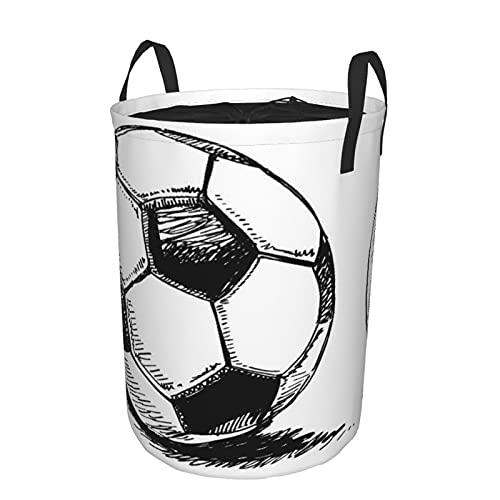 Cesta de almacenamiento, balón de fútbol con dibujo azul, fútbol, deporte, Shadow World, camino negro, Eduion, cesto de lavandería grande plegable con asas 21.6
