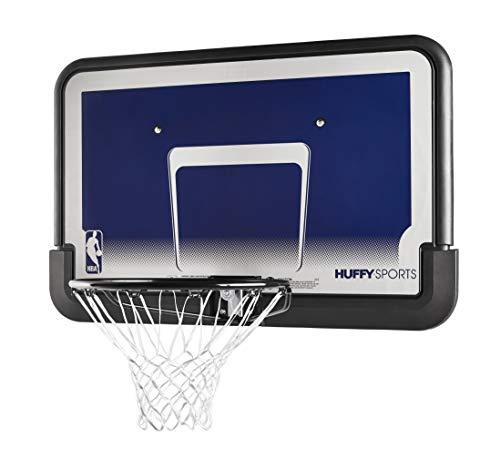 "Spalding 44"" Eco-Composite Basketball Backboard & Rim Combo , Black"
