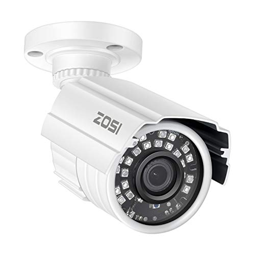 ZOSI 2MP HD 1920TVL Outdoor Indoor Security Camera 1080p (Hybrid 4-in-1 HD-CVI/TVI/AHD/960H Analog CVBS), 24PCS LEDs, 80ft IR Night Vision, Weatherproof Surveillance CCTV Bullet Camera