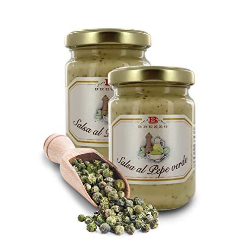 Salsa Artigianale al Pepe Verde, 130 Grammi (Confezione da 2 Pezzi)