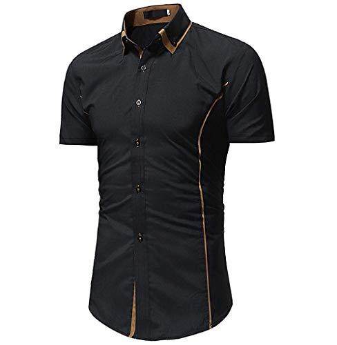 BOLAWOO Män skjorta skjorta herr enfärgade skjortor kortärmad färg mode märken avslappnade skjortor normal passform sommar skjorta skjorta toppar mode kortärmad män skjorta knapp ner skjortor