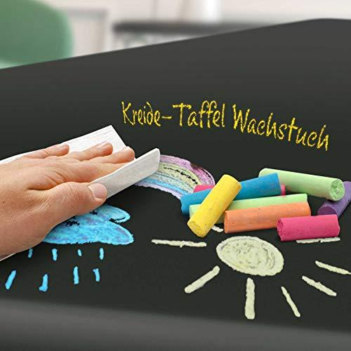 ANRO Tischdecke Kinder Wachstuchtischdecke Kindertischdecke beschreibbar bemalbar mit Kreide und mit Schwamm abwaschbar