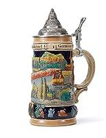 boccale di birra con coperchio regali fatti a mano souvenirs bicchieri birra rilievo inciso delle attrazioni tedesche sicurezza alimentare confezione regalo 0.6 litre