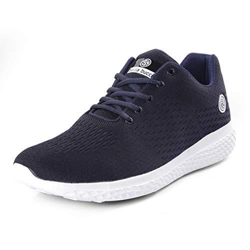 Bacca Bucci® Running Shoes Men Lightweight Fashion Sneakers Walking Footwear Tennis Athletic Shoes Slip-On for Outdoor Sport Gym Jogging Big Size UK-11 to 13/Blue